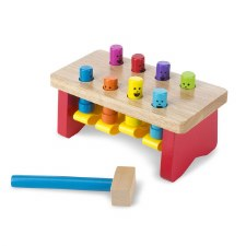 Melissa & Doug Wooden Toy- Deluxe Pounding Bench