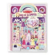 Melissa & Doug Reusable Puffy Sticker Kit- Day of Glamour