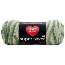 Red Heart Super Saver Yarn, Multi-Color- Desert Camo