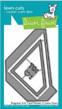 Lawn Fawn Craft Dies- Diagonal Gift Card Pocket