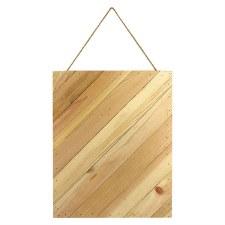"""Diagonal Plaque 12""""x15""""- Natural"""