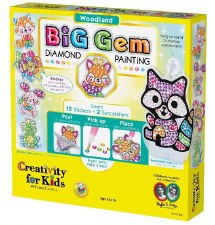Creativity for Kids Big Gem Craft Kit- Woodland