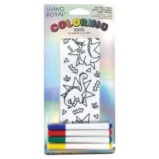 Coloring Socks- Dino Daze