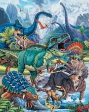 Fabric Panel- Dinotopia