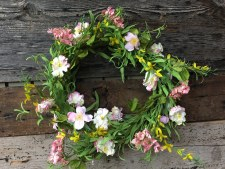 "Spring Wreath, 24""- Pink Blossoms"