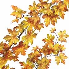 Maple Leaf Garland- Gold