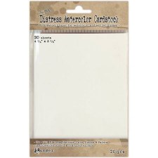 "Distress Watercolor Cardstock, 20ct- 5.5"" x 4.25"""