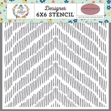 6x6 Stencil- Distressed Chevron