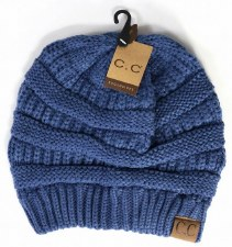 CC Knit Beanie- Dark Denim