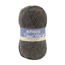 Patons Classic Wool Roving Yarn- Dark Grey
