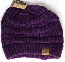 CC Knit Beanie- Dark Purple