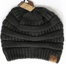 CC Knit Beanie- Dark Grey