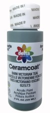 Delta Ceramcoat Acrylic Paint, 2oz- Greens: Dark Victorian Teal