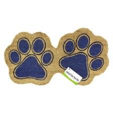 Natural Fiber Door Mat- Dog Paws