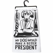 LOL Dish Towel- Dog President