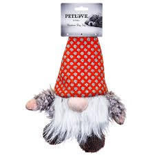"""Pet Love Gnome Dog Toy, 13""""- Red"""