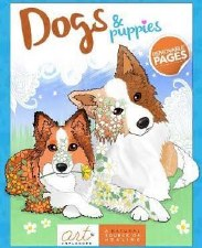 Art Unplugged Adult Coloring Book- Dogs & Puppies