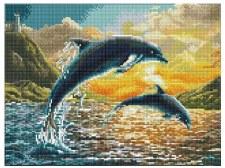 Diamond Facet Art Kit- Dolphin Sunset