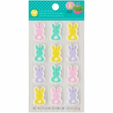 Easter Icing Decorations, 12ct- Bunnies