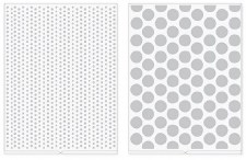 We R Memory Keepers Revolution Embossing Folders, 2pk- Dots