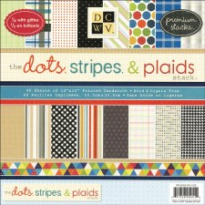 12x12 DCWV Paper Stack- Dots, Stripes, & Plaids