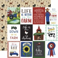 Down on the Farm 12x12 Paper- 3x4 Cards