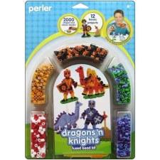 Perler Beads Kit- Dragons 'n Knights