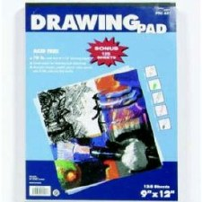 9x12 Drawing Pad- 125 sheets
