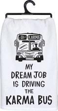 Dish Towel- Karma Bus