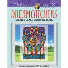Creative Haven Stained Glass Adult Coloring Book- Dreamcatchers
