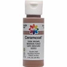 Delta Ceramcoat Acrylic Paint, 2oz- Browns: Dark Brown