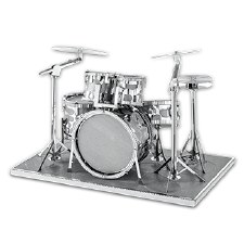 Metal Earth 3D Metal Model Kit- Drum Set