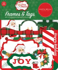 Dear Santa Ephemera- Frames & Tags