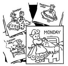Aunt Martha's Iron On Transfers- Dutch Motifs #3021