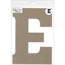 """8"""" Chipboard Letter- E"""