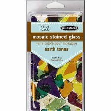 Mosaic Stained Glass Pieces, 20oz- Earth Tones
