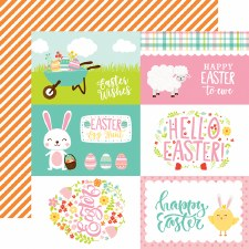 Easter Wishes 12x12 Paper- 4x6 Cards