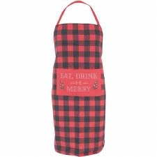 Krumbs Kitchen Holiday Apron- Eat, Drink & Be Merry
