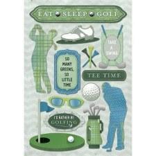 Cardstock Stickers- Eat Sleep Golf