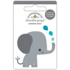 At The Zoo Stickers- Doodle Pops- Eddie Elephant