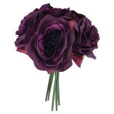 Ashley Rose Wedding Bouquet- Eggplant