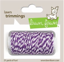 Lawn Fawn Trimmings Cord- Eggplant
