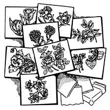Aunt Martha's Iron On Transfers- Eight Flowers #3698