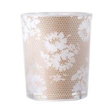 Glass Votive- Elegant Lace