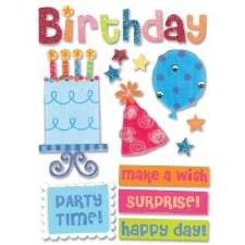 MAMBI Soft Spoken Stickers- Birthday- Birthday Cake