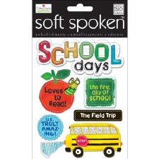 MAMBI Soft Spoken Stickers- School- School Days