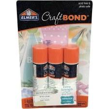 Craft Bond Permanent Glue Sticks 3pk