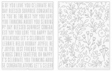We R Memory Keepers Revolution Embossing Folders, 2pk- Jen Hadfield