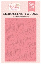 Hello Baby Girl Embossing Folder- Baby Girl