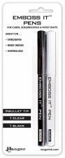 Emboss It Pens 2pk- Black & Clear